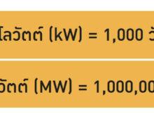 กิโลวัตต์ (kW หรือ Kilowatt)